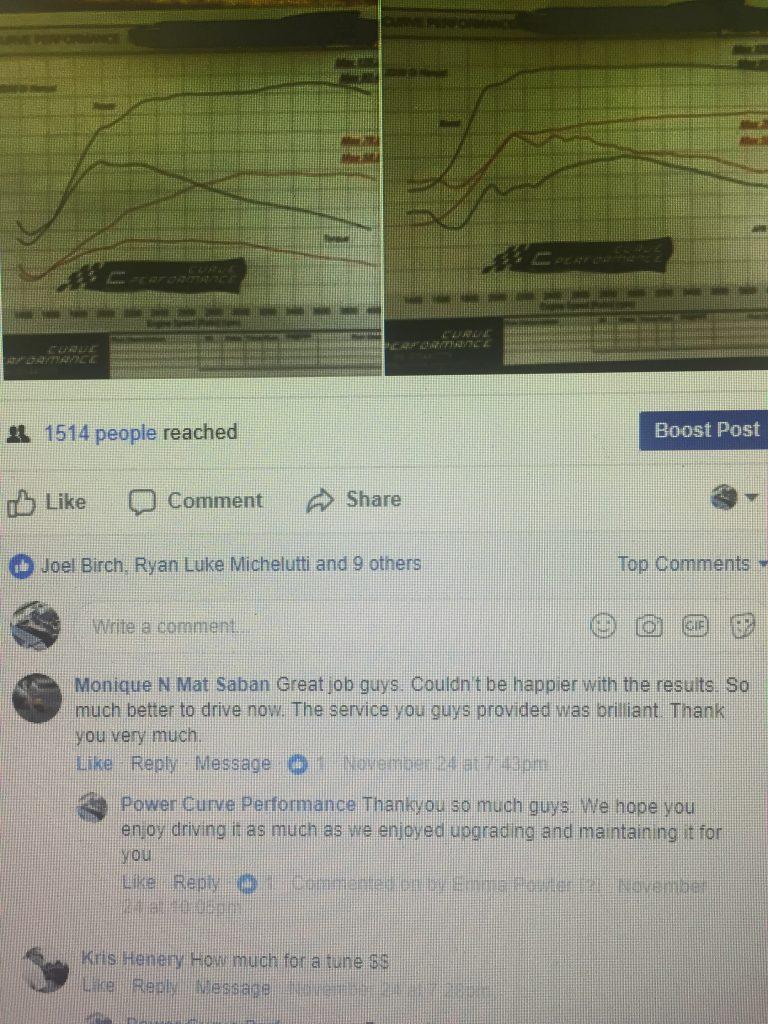 ZD30 DI Manual ECU Tune, Power Curve Performance, Customer feedback