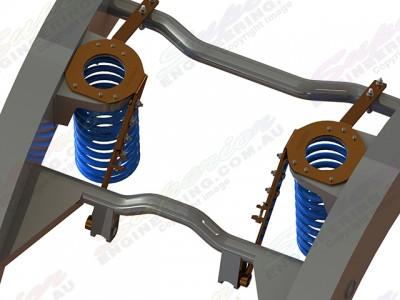 Superior Coil Tower Brace Nissan Patrol GQ/GU Wagon No Body Lift