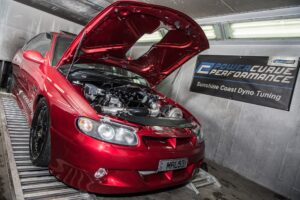 Dyno tune, holley, turbo, Petrol, Sunshine Coast, commodore, red, performance