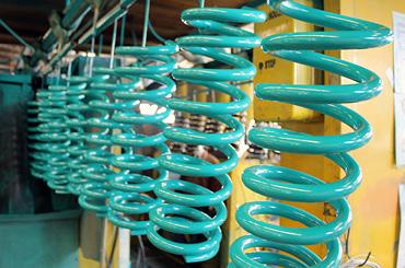 powder-coat-finish coil spring