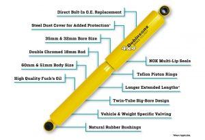 twin tube shock absorber dobinsons 4x4