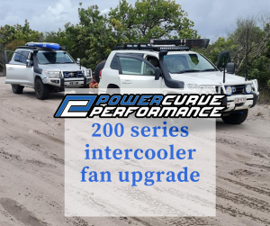 200 series intercooler fan upgrade, power curve performance